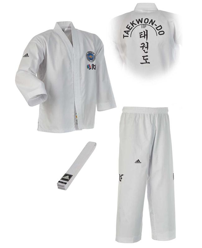 adidas ITF TAEKWONDO Anzug Student 120 cm  weiss ADITITF01 120