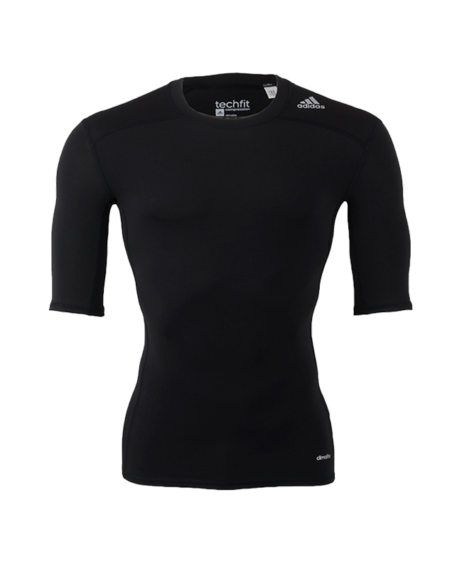 adidas Compression Shirt TECHFIT Base SS Kurzarm schwarz AJ4966