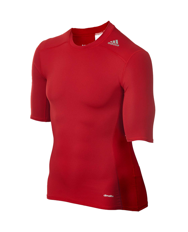 adidas Compression Shirt TECHFIT Base SS Kurzarm rot XXL AJ4968 XXL
