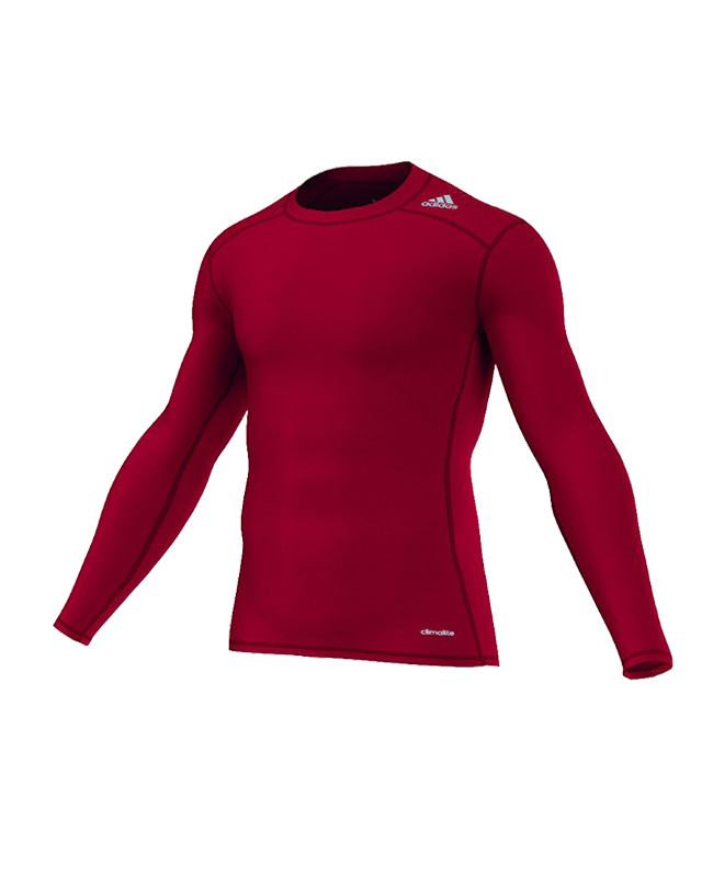 adidas TECHFIT Langarm TF BASE LS rot L AJ5015 Compression Shirt L