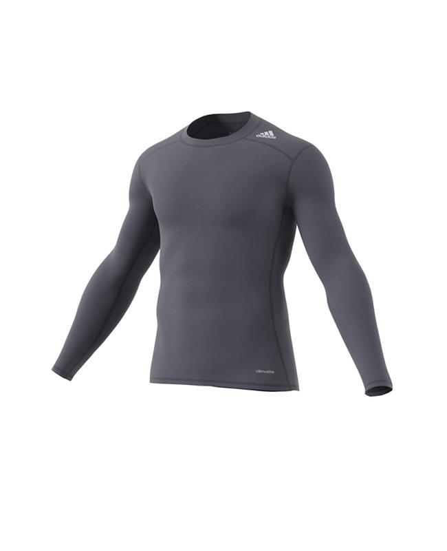 adidas TECHFIT Langarm TF C&S LS onyx grau Compression Shirt adi AJ5017 M