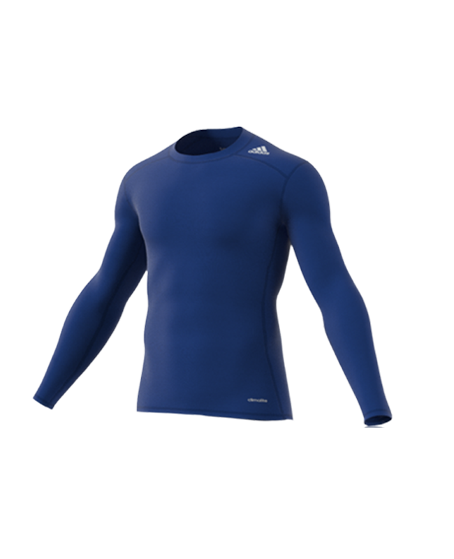 adidas TECHFIT Langarm TF BASE LS blau AJ5018 Compression Shirt