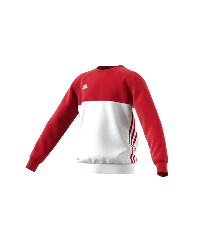 Adidas T16 CREW SWEATER YOUTH rot/weiss AJ5267 L
