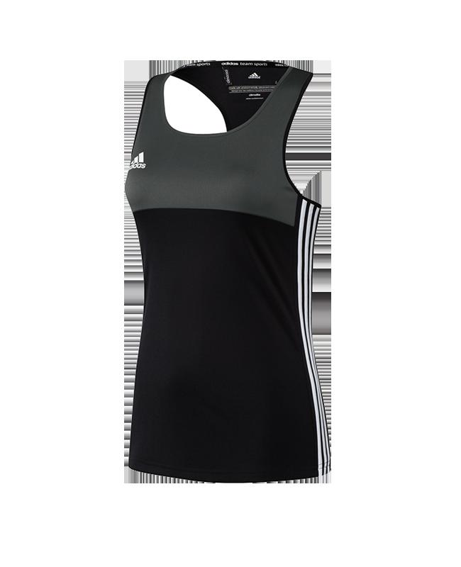 adidas T16 Clima Cool SL TEE WOMAN size XXL schwarz/grau AJ5453 XXL