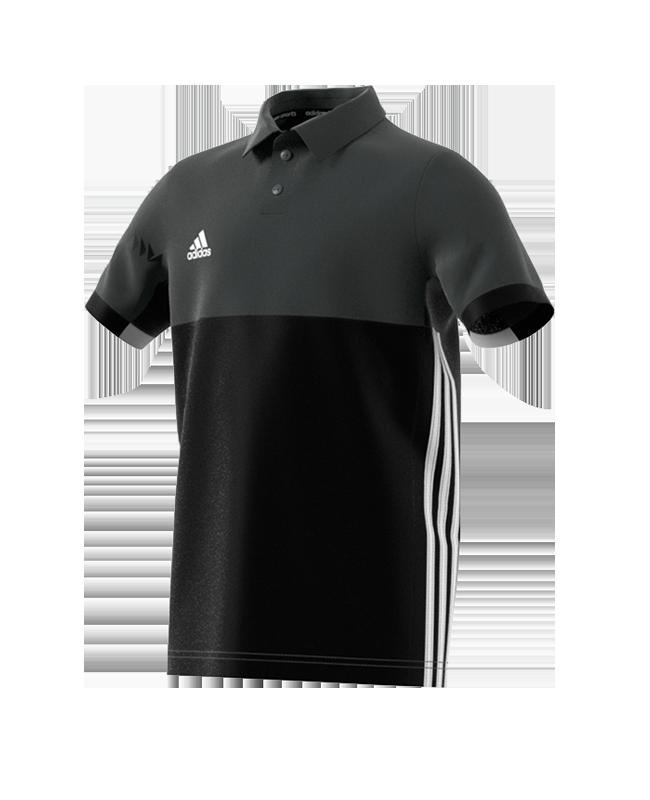 adidas T16 Climacool Polo Shirt  Youth BOYS size 140 schwarz/grau AJ5470 140