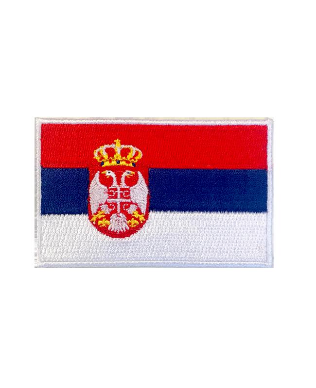 Aufnäher Stickabzeichen Serbien Flagge Gr. 8x5