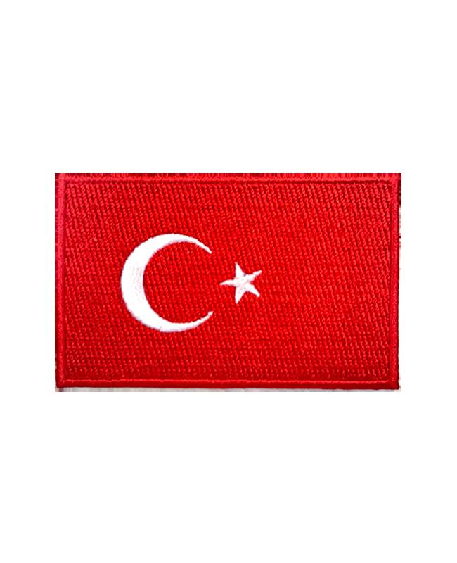 Aufnäher Stickabzeichen Türkei Flagge Gr. 8x5
