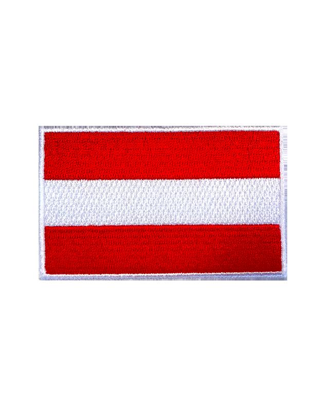 Aufnäher Stickabzeichen AUSTRIA rot/weiß/rot