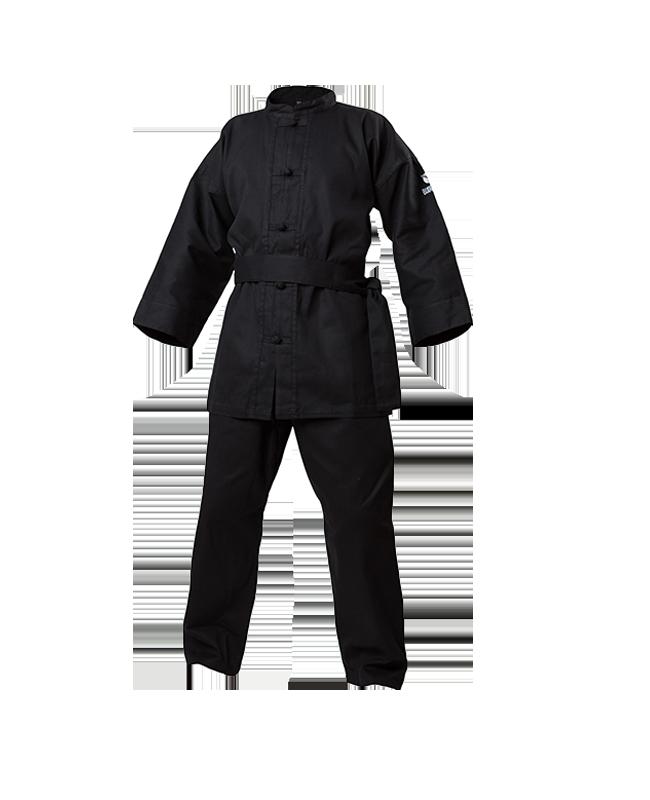 Budo Nord Kung Fu Anzug 160cm schwarz 160cm