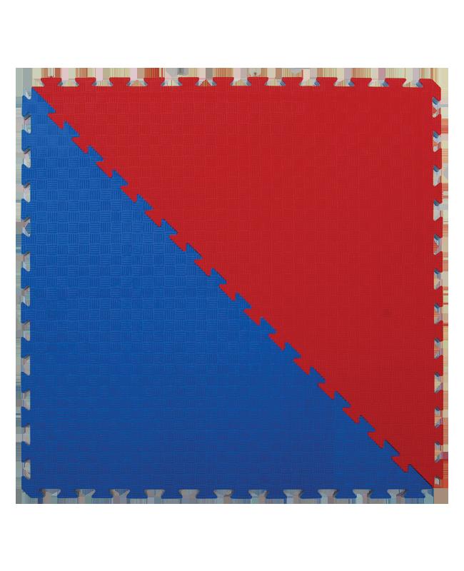 FW Kampfsportmatte Competition - Dreiecke  2er Set rot/blau Puzzle Wendematte