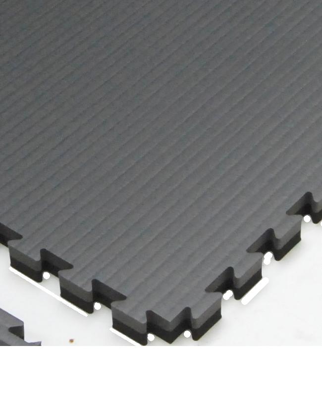 FW Sportmatte Cushion 40mm 1x1m grau/schwarz Puzzle Wendematte