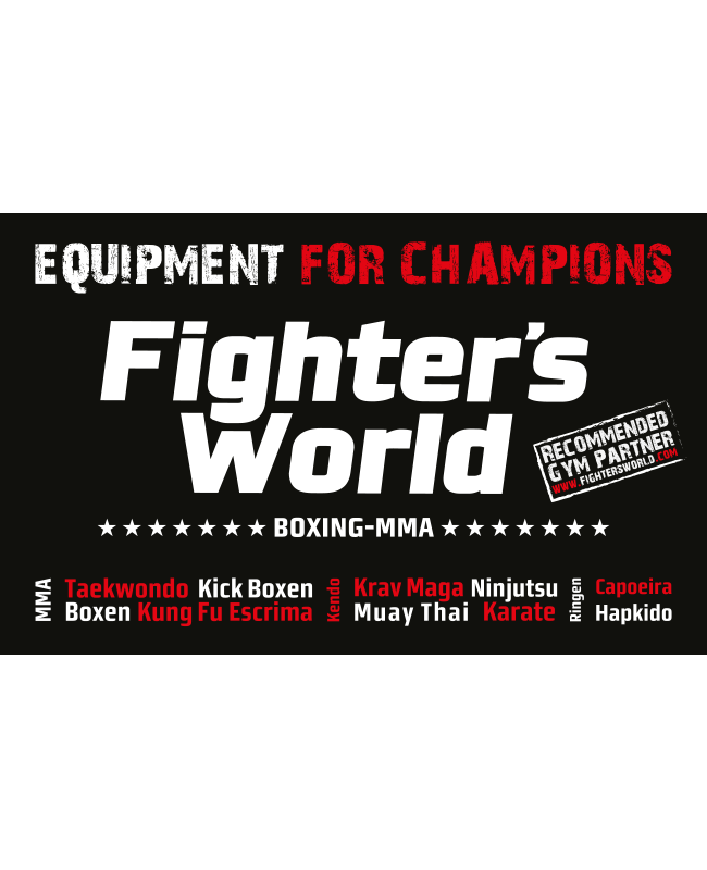 Fighter`s World Gym Banner EQUIPMENT FOR CHAMPIONS