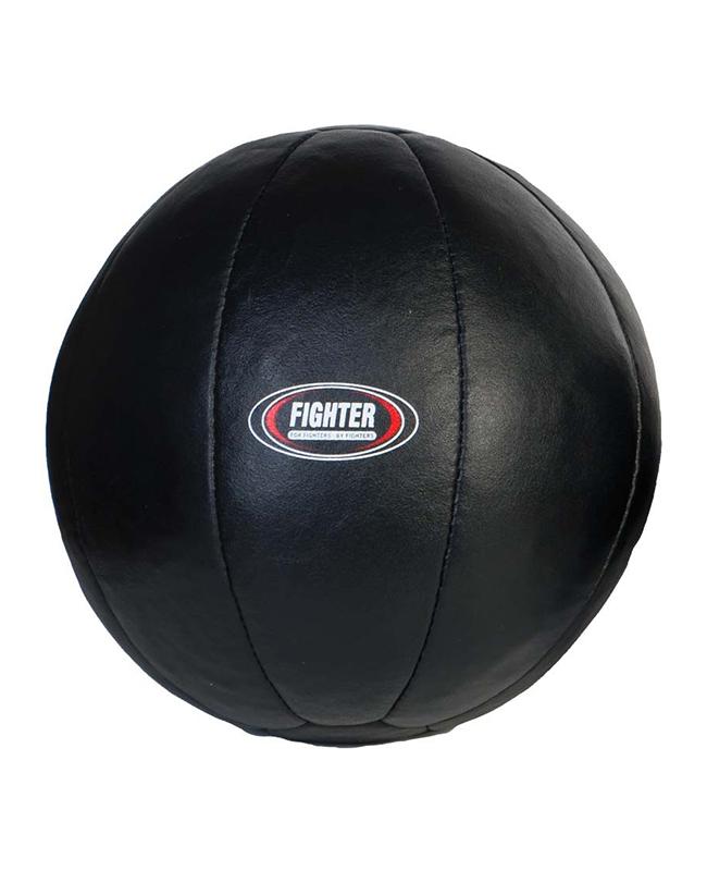 Medizinball Leder schwarz 8kg