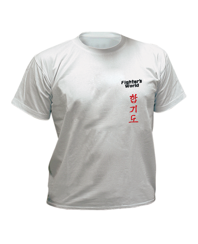 T-Shirt Hapkido XXL grau mit Bestickung XXL