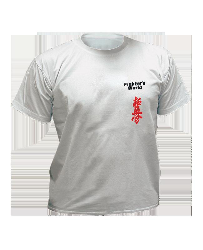 T-Shirt Kyokushinkai M grau mit Bestickung M