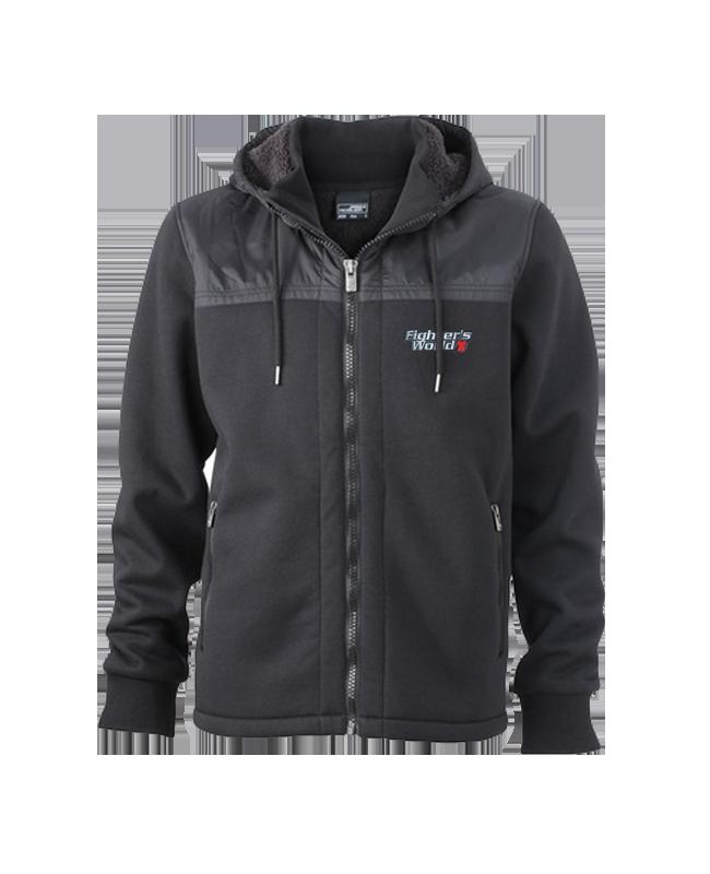 FW Jacke Black Bear Sweater mit  Kapuze Gr. L schwarz L