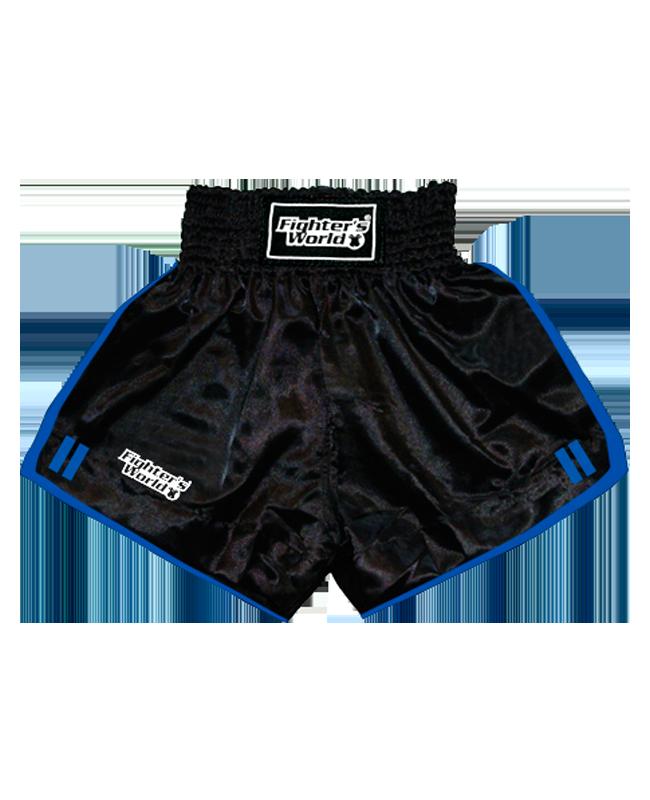 FW Boran Thaiboxing Short schwarz/blau XXL XXL
