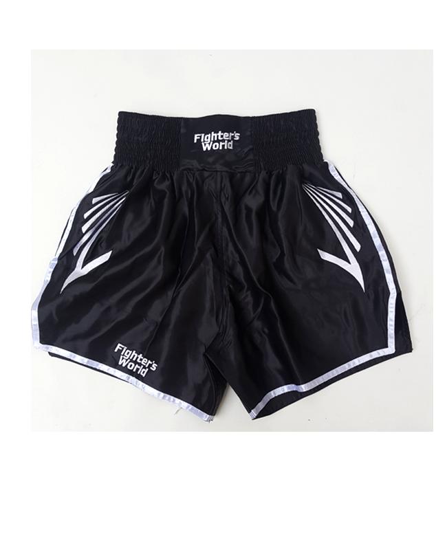 FW CORNER Thaibox Hose schwarz/weiß Muay Thai Short