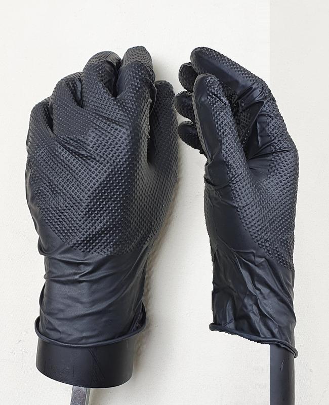 Einweg Handschuhe Gr. XL (9/10) schwarz