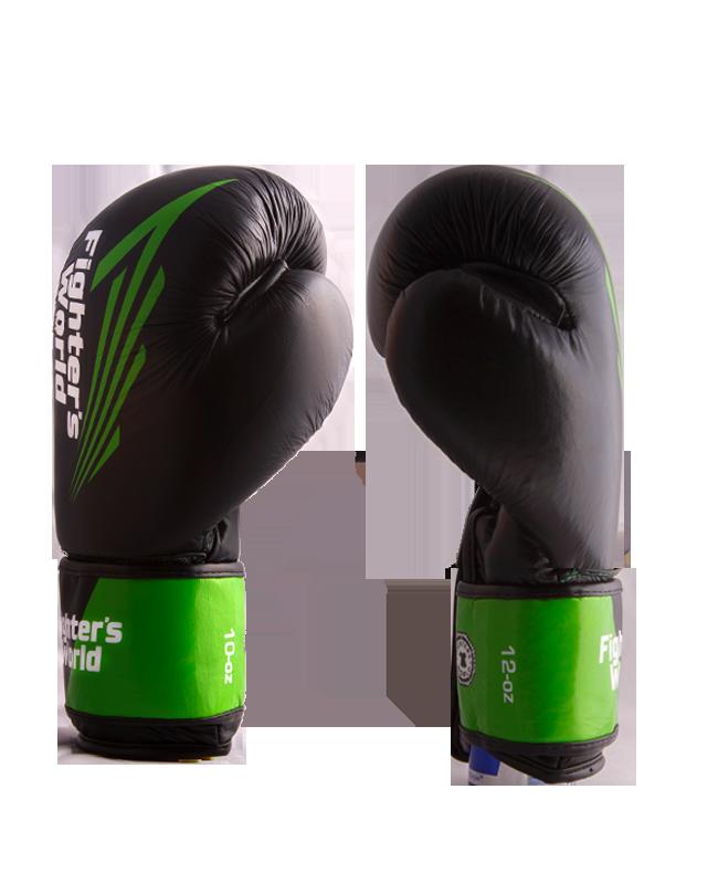 FW Green CORNER Boxhandschuhe Klettverschluss grün/schwarz
