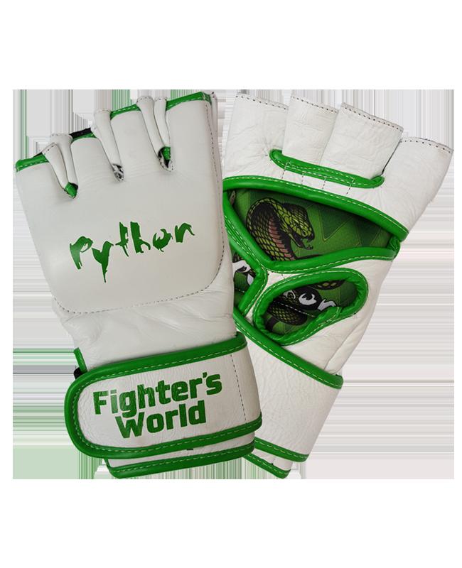 FW MMA Handschuhe Python grün/weiß