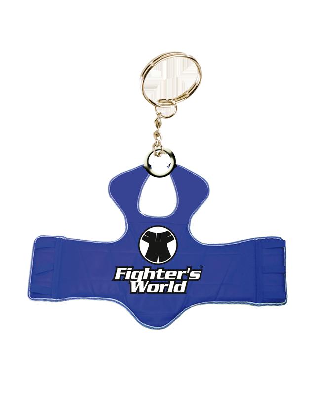 FW Schlüsselanhänger, Mini-Schutzweste TKD, rot/blau