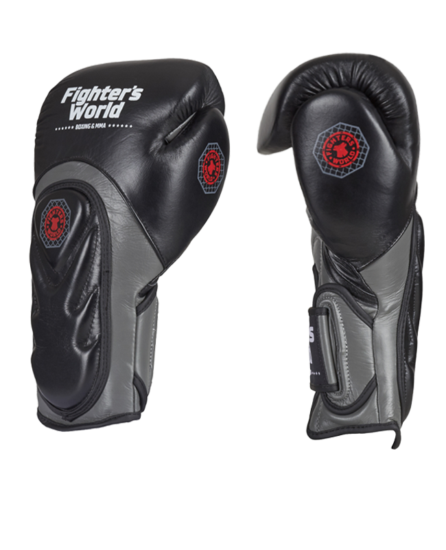 Fighter`s World  FIRESTORM Boxhandschuhe schwarz 10oz