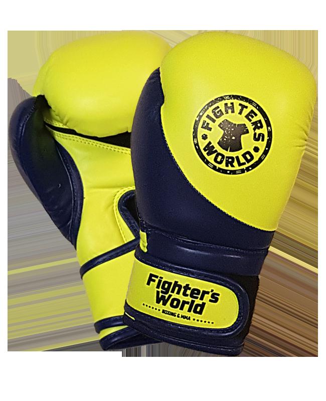 FW Boxhandschuh Strike Junior gelb/blau 8 oz 8oz