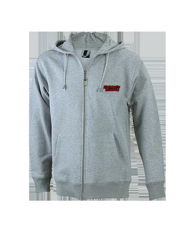 FW Hoodie Basic Herren mit Zip Kapuzensweater M grau M