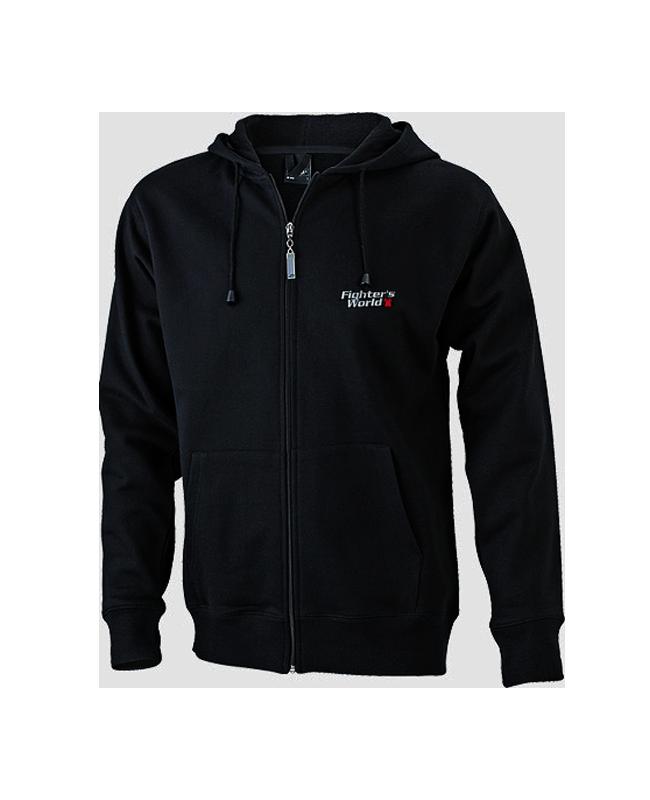 FW Hoodie Basic mit Zip, Kapuzensweater schwarz M M