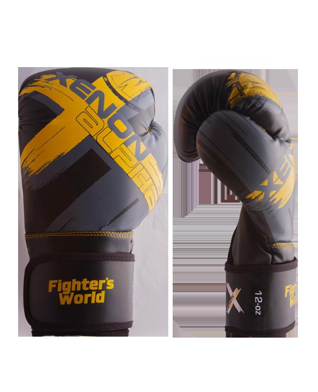 FW XENON ALPHA Boxhandschuhe oz black/yellow/grey