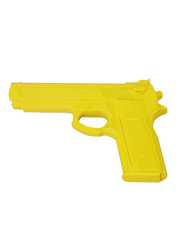 FW Trainingswaffe Gummi Pistole Yellow Gun gelb Self Defense