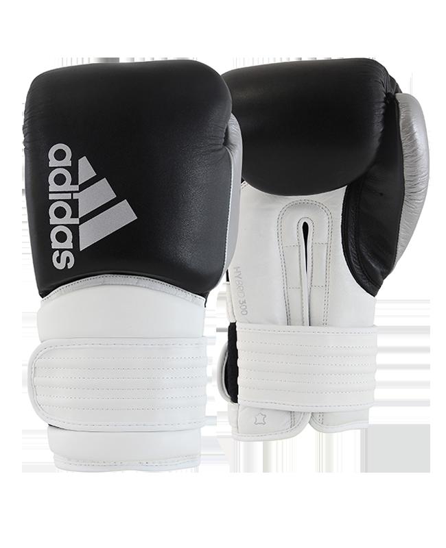 adidas Hybrid 300 Boxhandschuhe schwarz/weiß adiH300 16oz