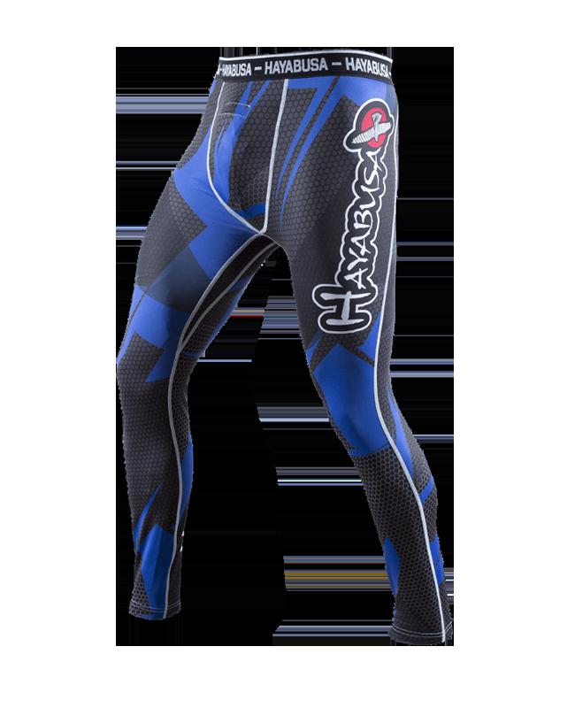 Hayabusa Metaru Compression Pants 47 Silver blau