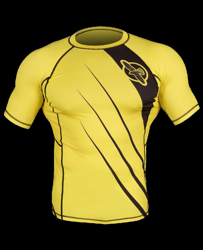 Hayabusa Recast Rashguard Kurzarm gelb/schwarz Gr. M M