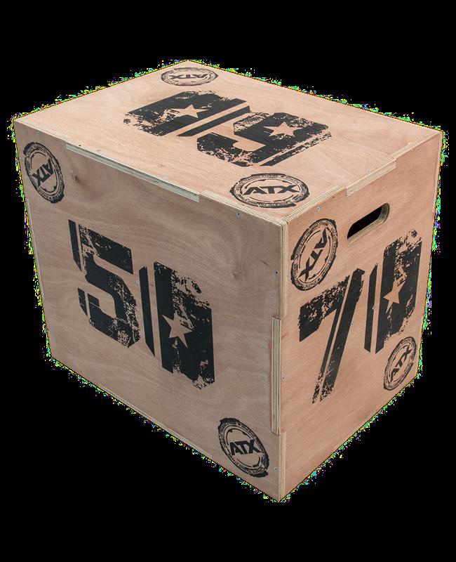 Triple X Holz-Sprungbox mit 3 verschiedenen Sprunghöhen