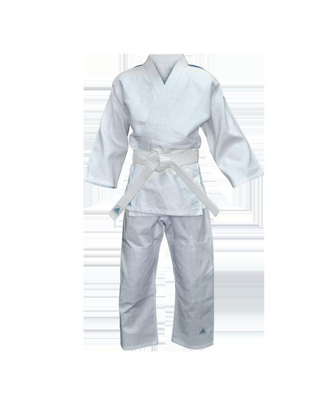 adidas J250E Judo Anzug Evolution Kids 140-150cm weiß 140-150cm