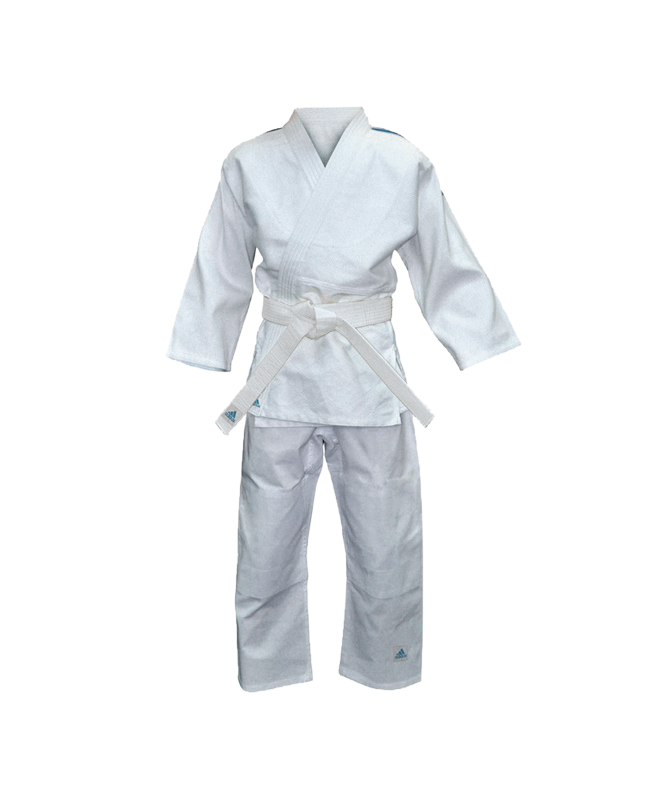 adidas J250EJudo Anzug Evolution Kids 130-140cm weiß 130-140cm