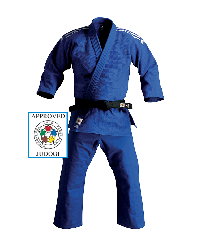 adidas J930B Champion Gi Judo Anzug blau 165cm IJF approved 165cm
