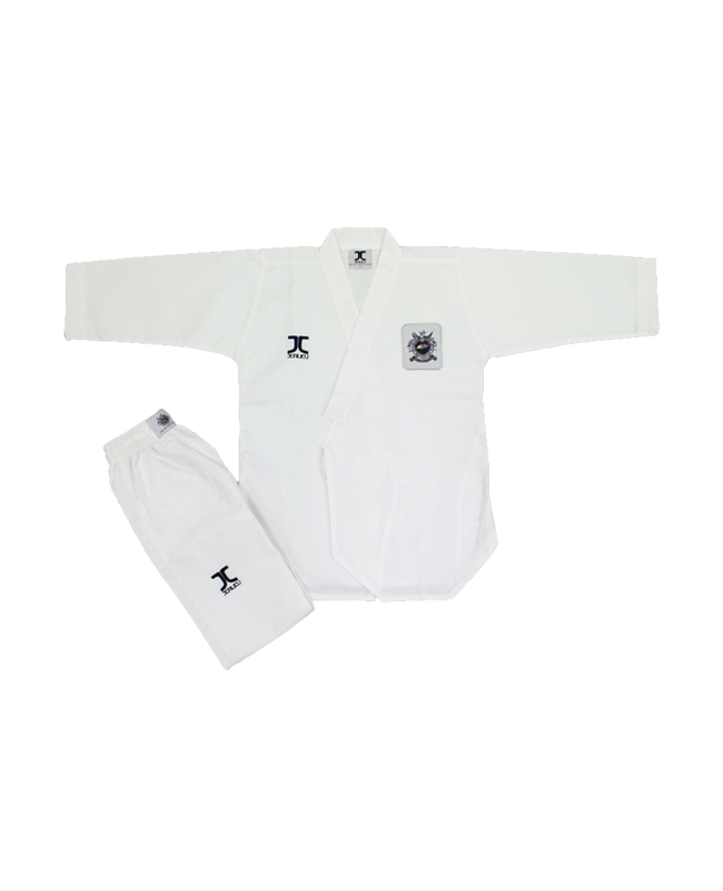 JCalicu Poomsae Kup Practice Ribbed Uniform Gr.130  WTF Approved JC-2001 130cm