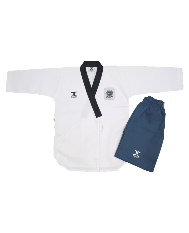JCalicu Female Poomsae Dan Practice Ribbed Uniform WTF Approved JC-3003