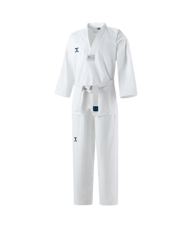 JCalicu CLUB Ribbed Uniform Gr.200  white Collar WTF approved JC-4002 200cm