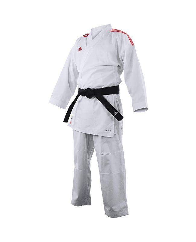 adidas K191SK Kumite Karate Anzug adiLight 160cm mit roten Schulterstreifen 160