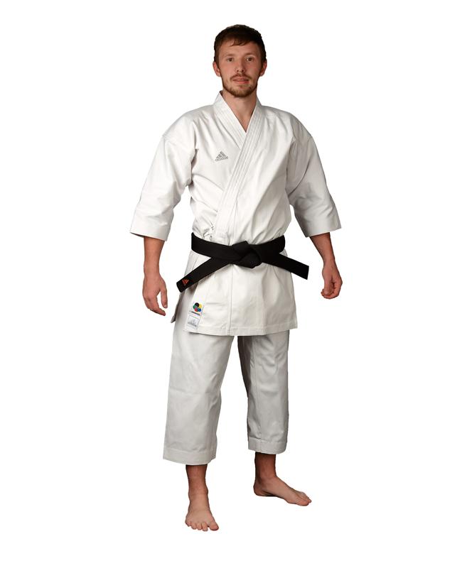 adidas K380 J ELITE Karateanzug weiß japanischer Schnitt