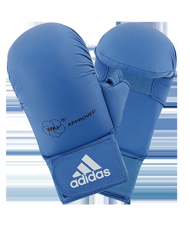 adidas Karate Faustschutz WKF + Daumen, L blau 661.23 L