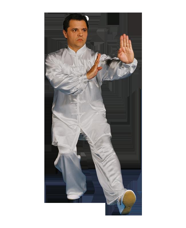 Kung Fu/ Tai Chi Anzug weiß Gr. S Satin 160cm 160cm