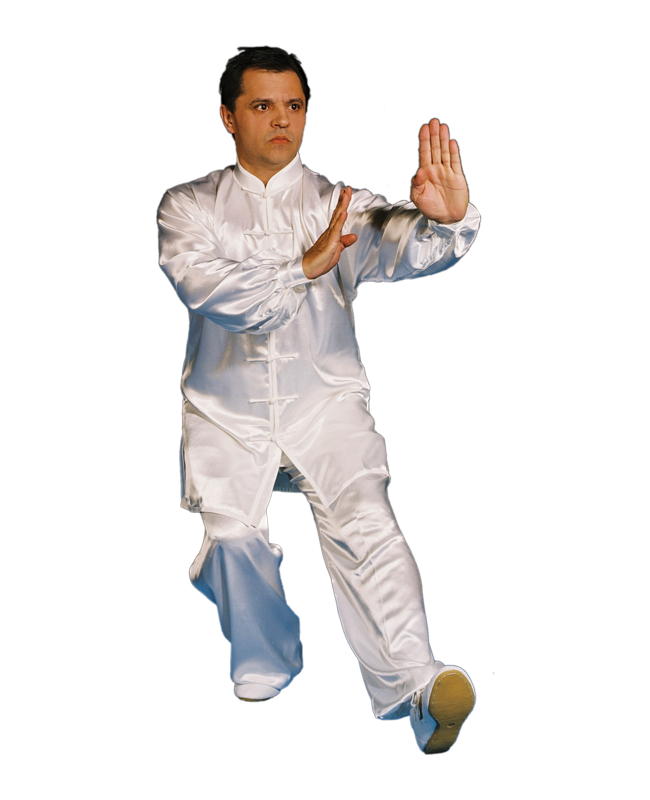 KungFu TaiChi  Anzug weiße Seide