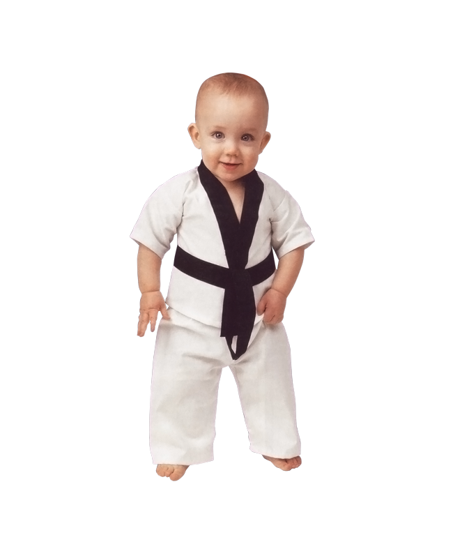 Lil Dragon, Kampfsport Uniform für Babys 0-6 Monate