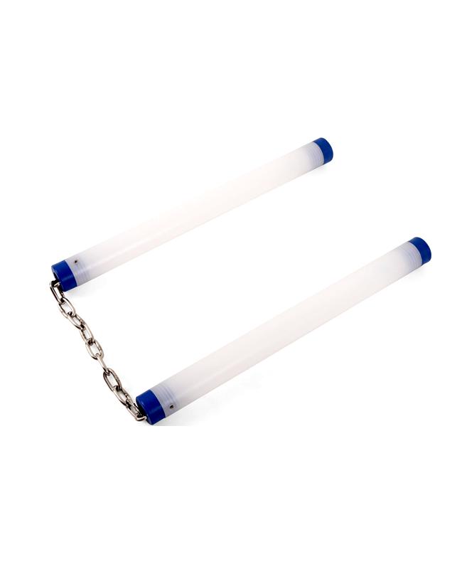 Luminous Nunchaku LED Kette Kunststoff Griff 29cm blau