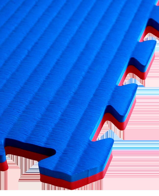 FW Sportmatte Eco 20mm 1x1m rot/blau Puzzle Wendematte